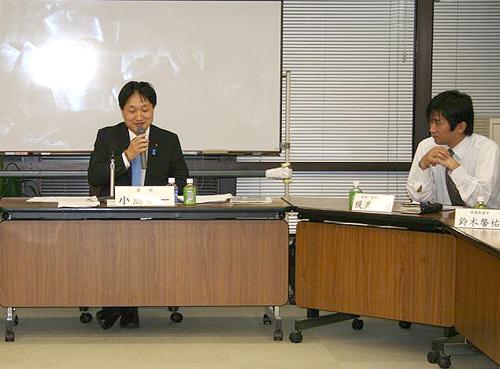 小島健一県議にご講演頂きました