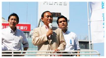 菅義偉(県連会長)が応援演説にお越し頂きました。