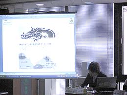 青年喫茶で、講演された志田一宏くん