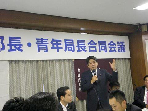 拉致問題について、ご講演頂いた安倍晋三(元総理)