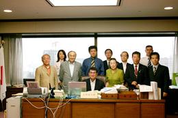 河野太郎法務副大臣を表敬訪問